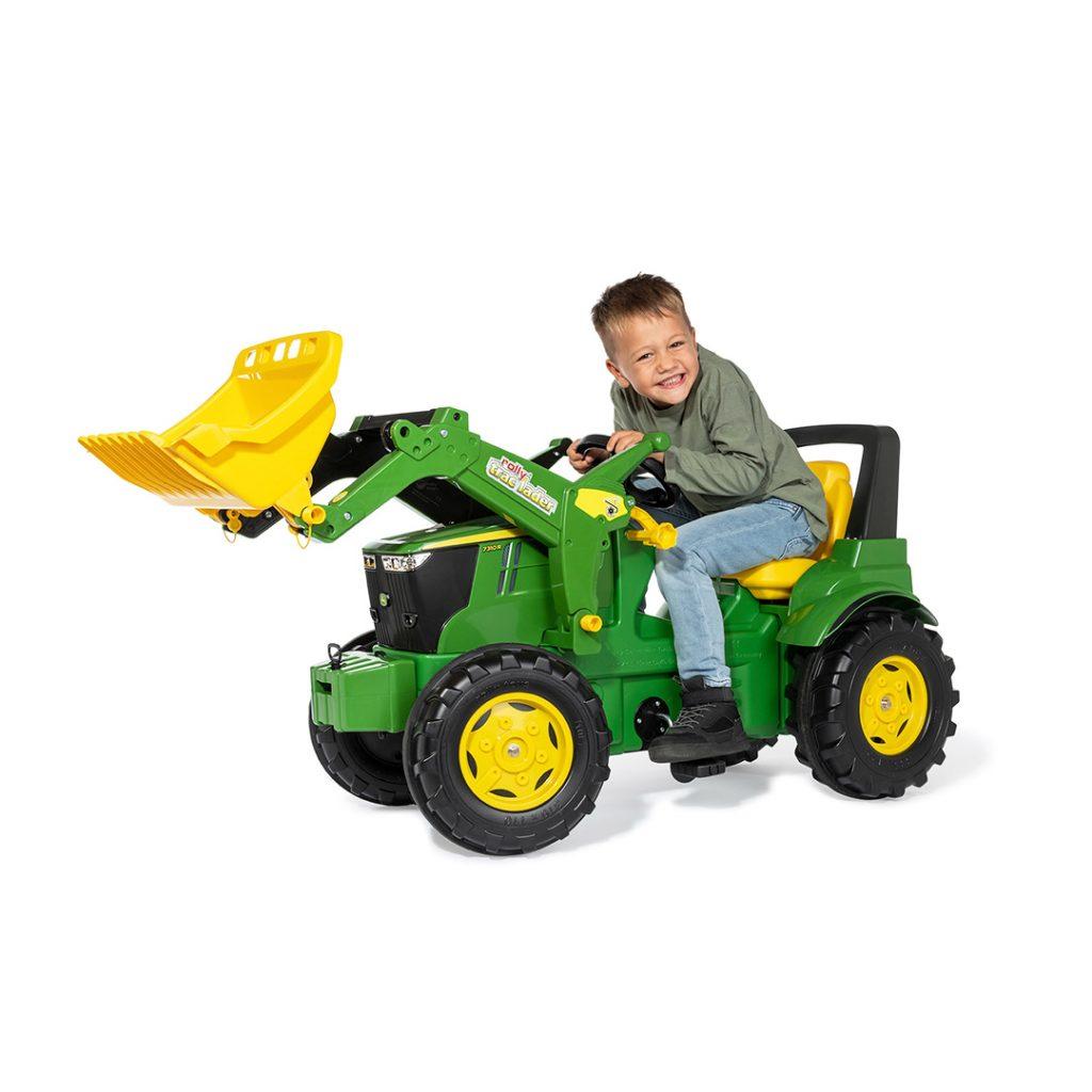 tractor de pedales para niños con pala