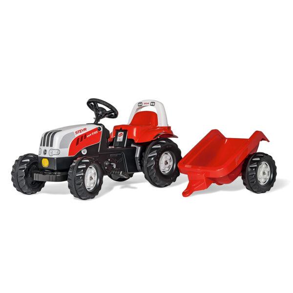 Tractor de Pedales rollyKid Steyr 6165 CVT con remolque
