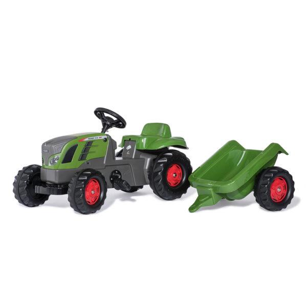 Tractor de Pedales rollyKid Fendt 516 Vario con remolque