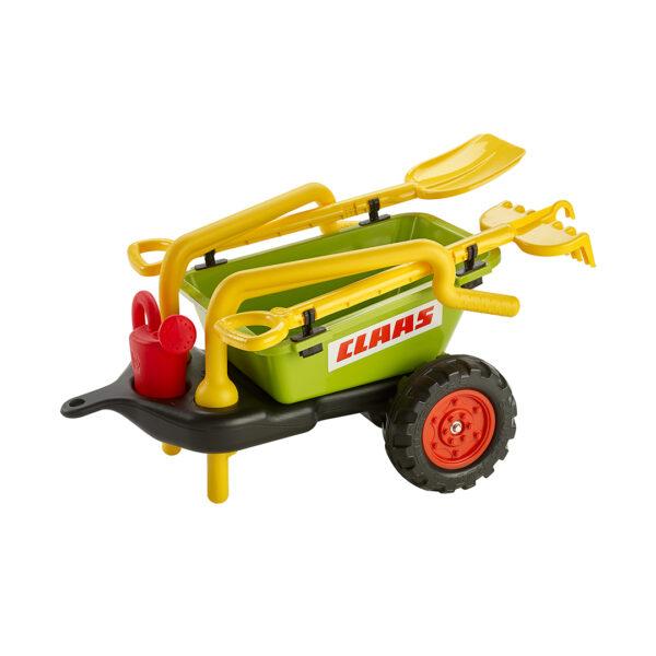 Remolque Claas con set de jardinería