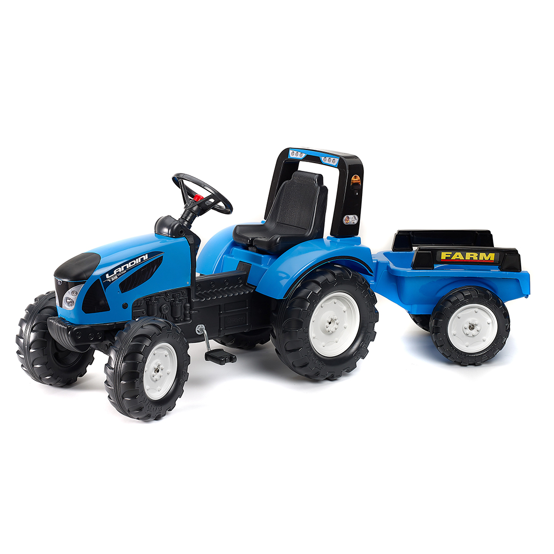 Tractor de pedales Landini Serie 7 con remolque