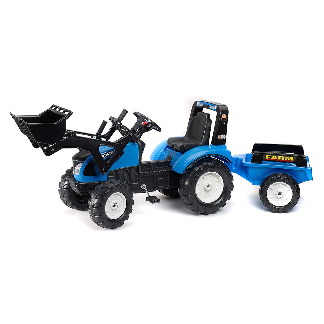 Tractor de pedales Landini Serie 7 con pala y remolque