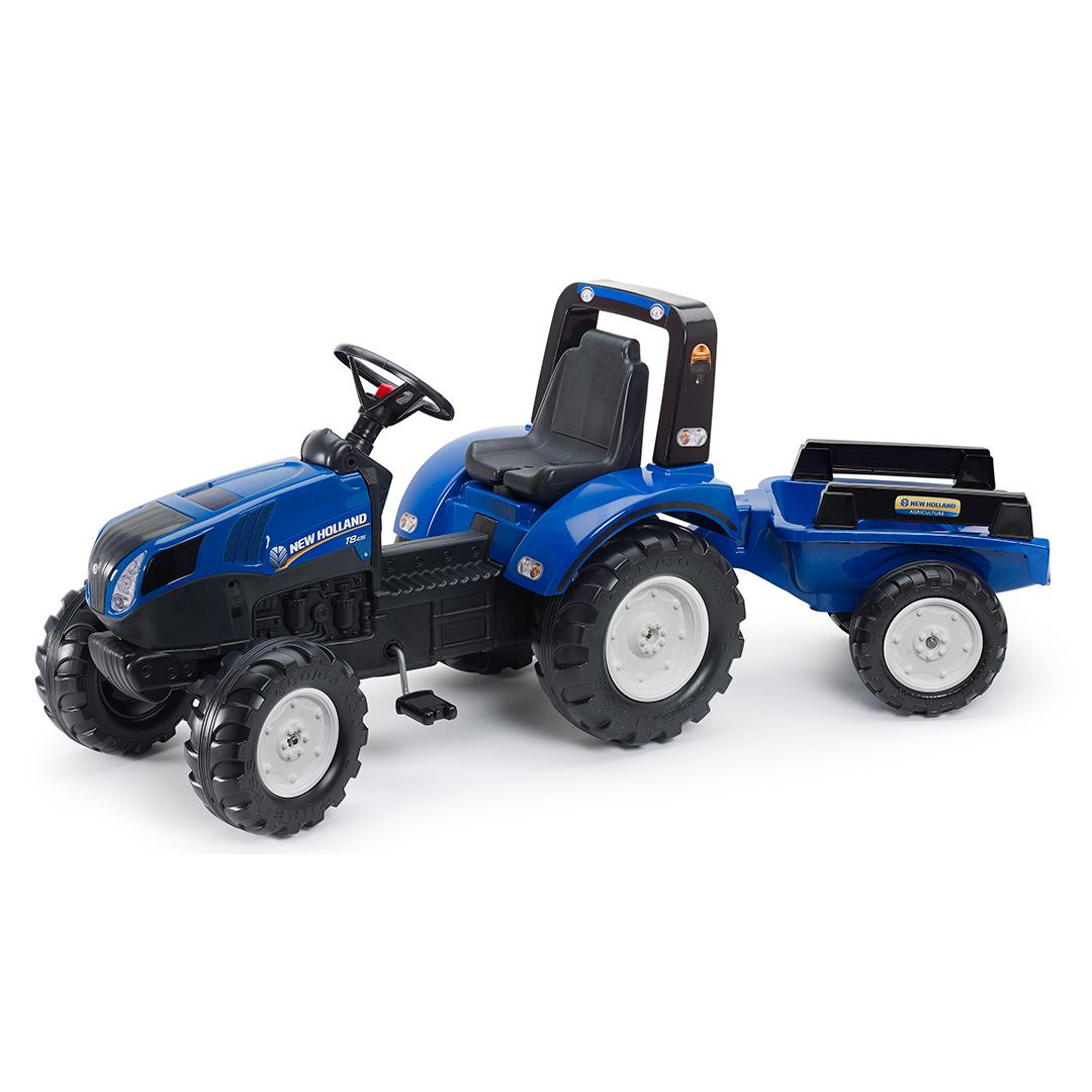 Tractor de pedales New Holland T8 con remolque
