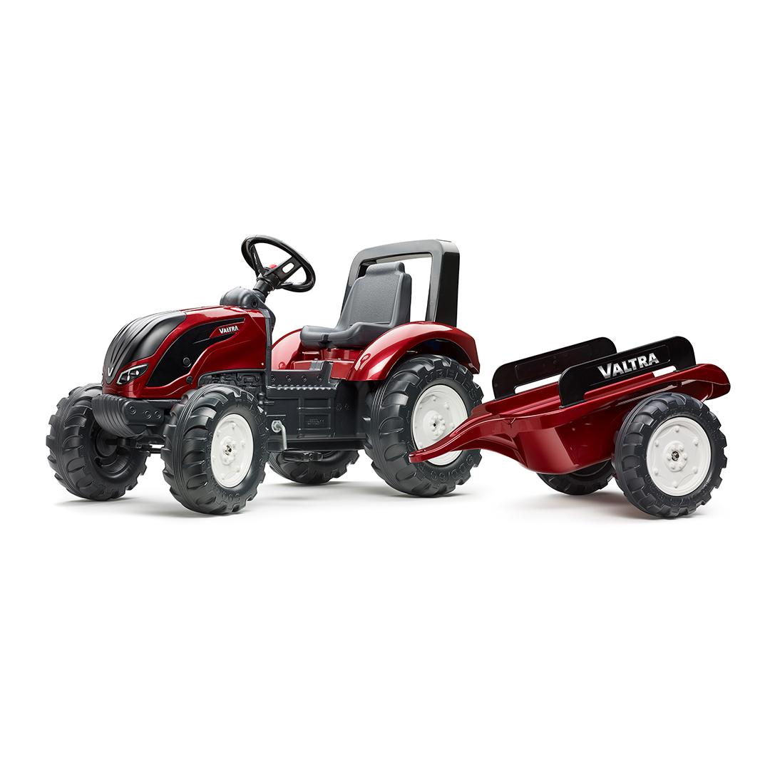 Tractor de pedales Valtra S4 con remolque