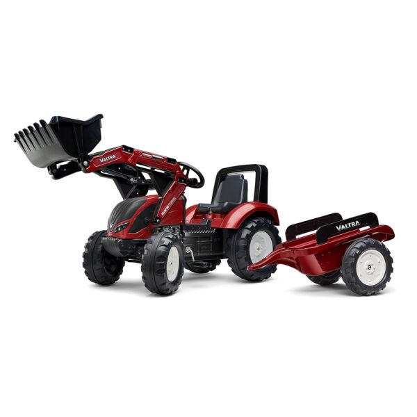 Tractor de pedales Valtra S4 con pala y remolque