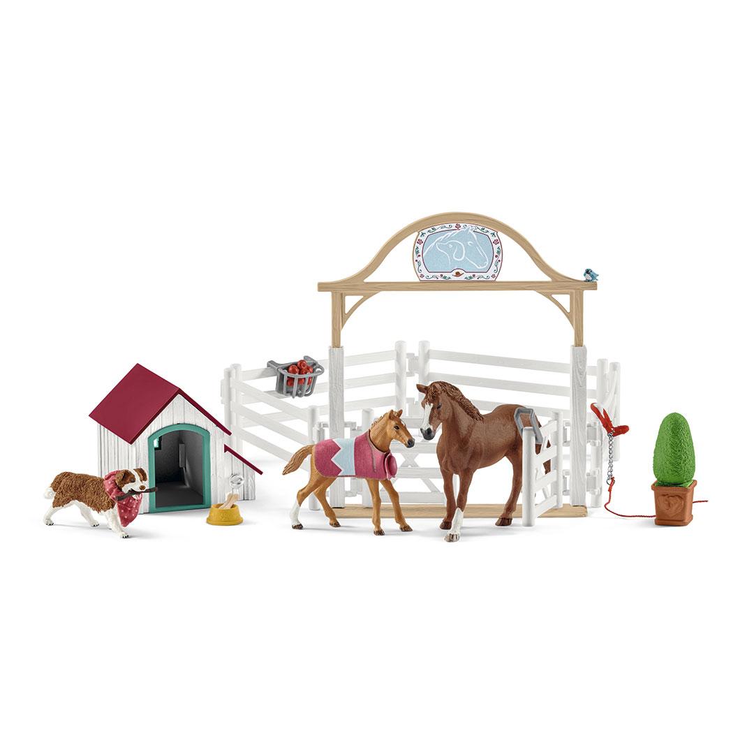 Caballos invitados del Horse Club Hannah con perra Ruby