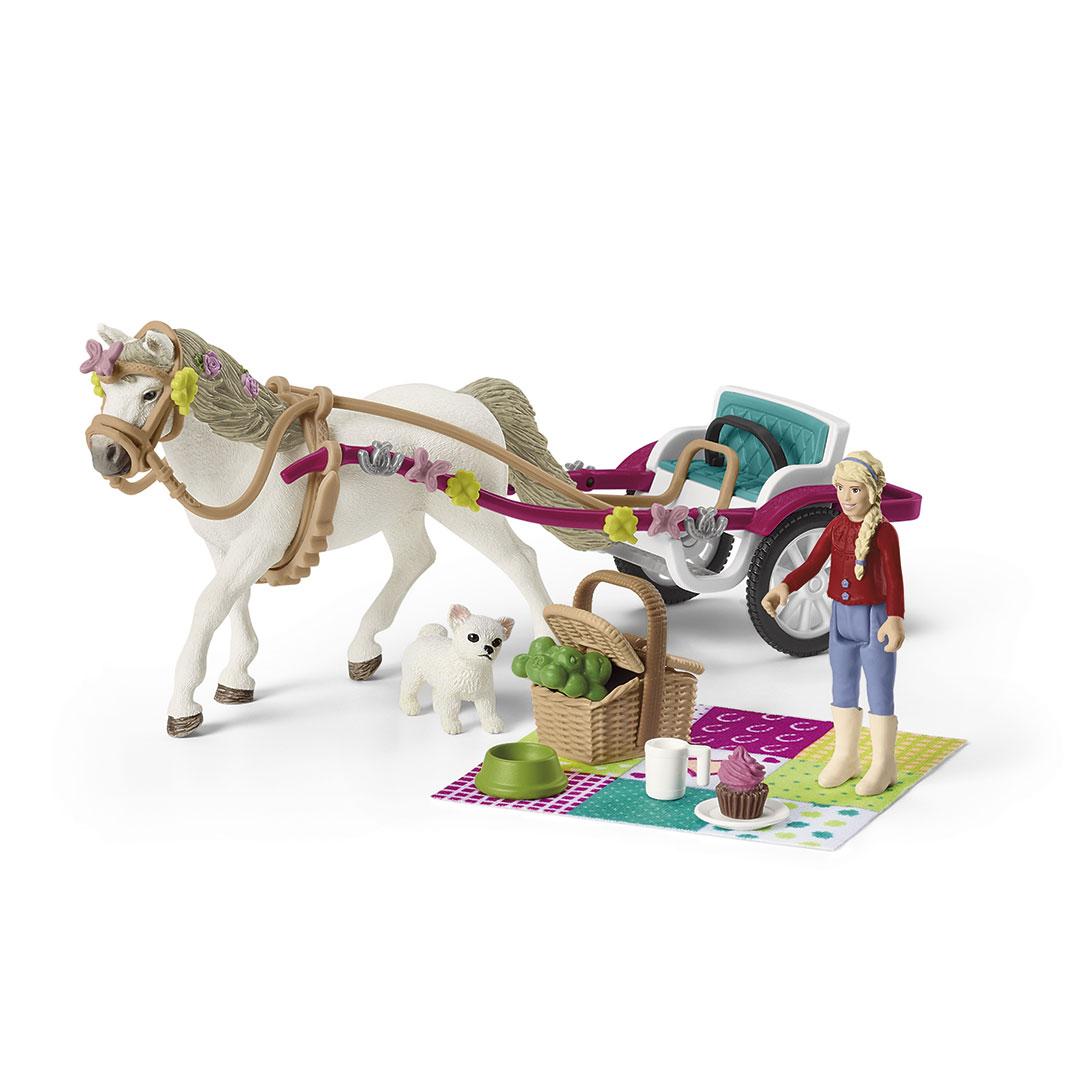 Coche de caballos para el espectáculo ecuestre