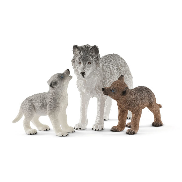 Mamá loba con cachorros