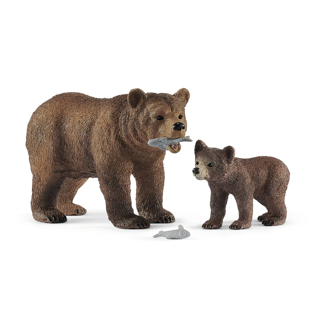 Mamá osa grizzly con cría