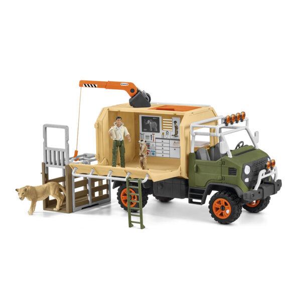 Camión de salvamento de animales grande