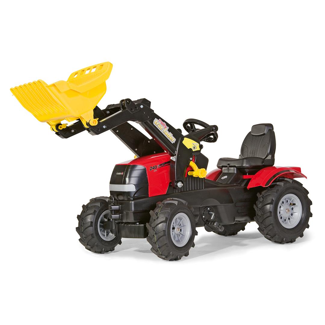 Tractor de Pedales rollyFarmtrac Case Puma CVX 240 con pala y ruedas neumáticas