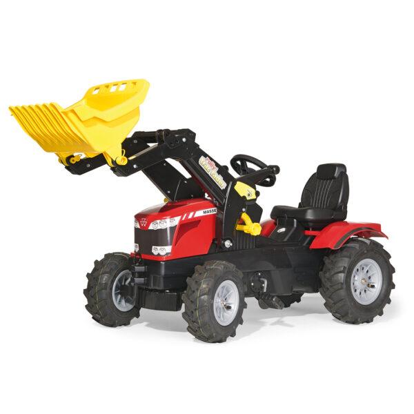 Tractor de Pedales rollyFarmtrac Massey Ferguson con pala y ruedas neumáticas