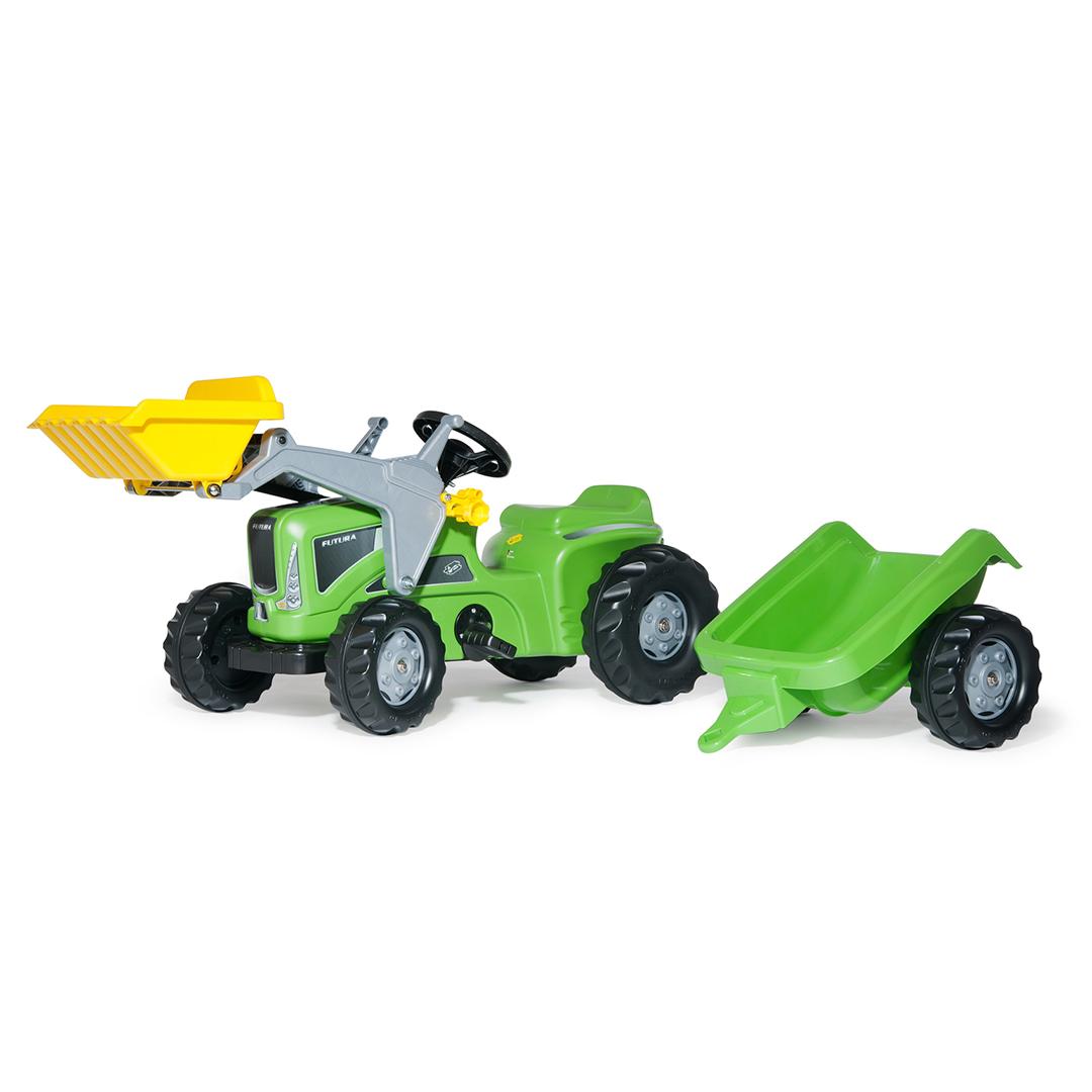Tractor de Pedales rollyKiddy Futura con remolque y pala
