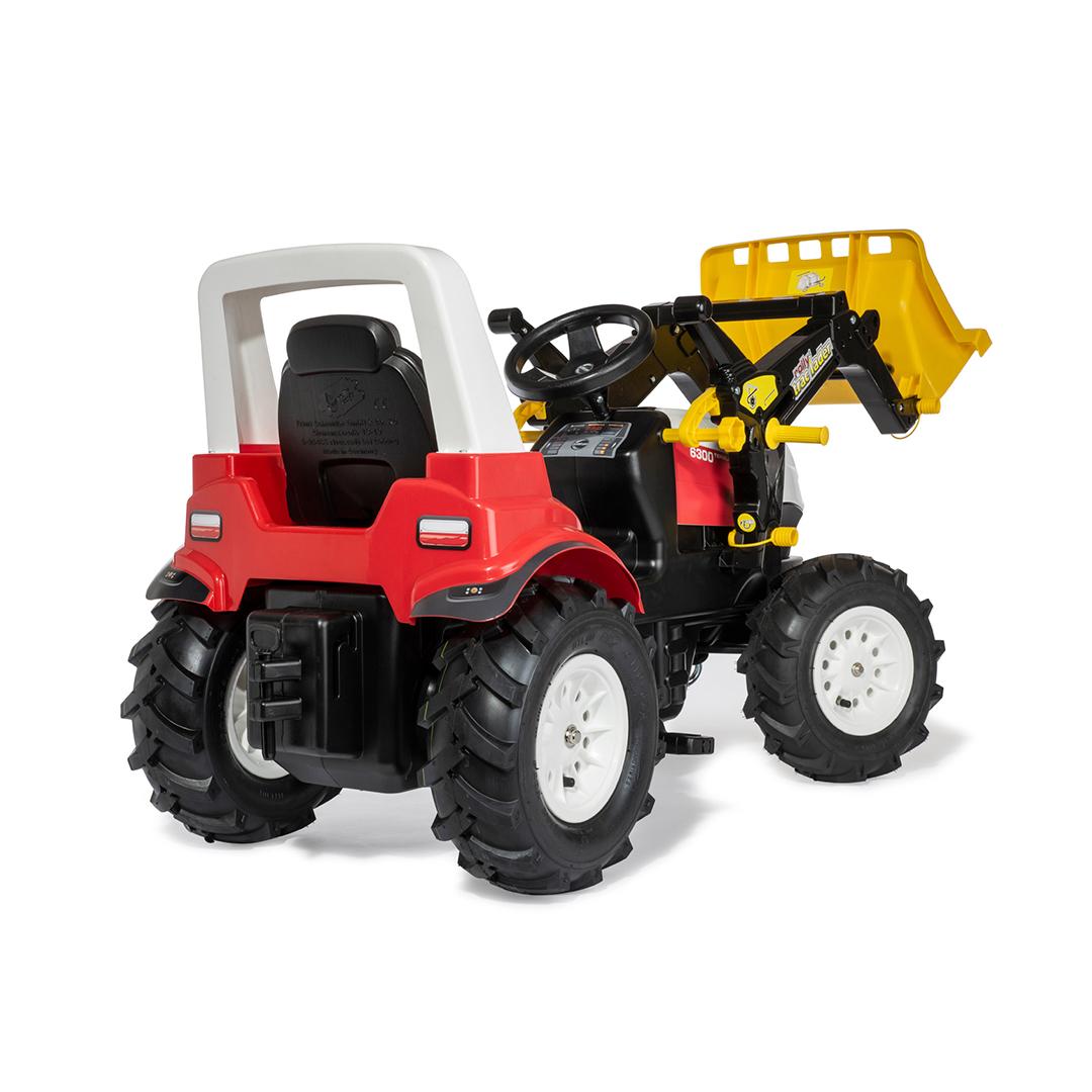Tractor de Pedales rollyFarmtrac Steyr 6300 Terrus CVT con pala y ruedas neumaticas