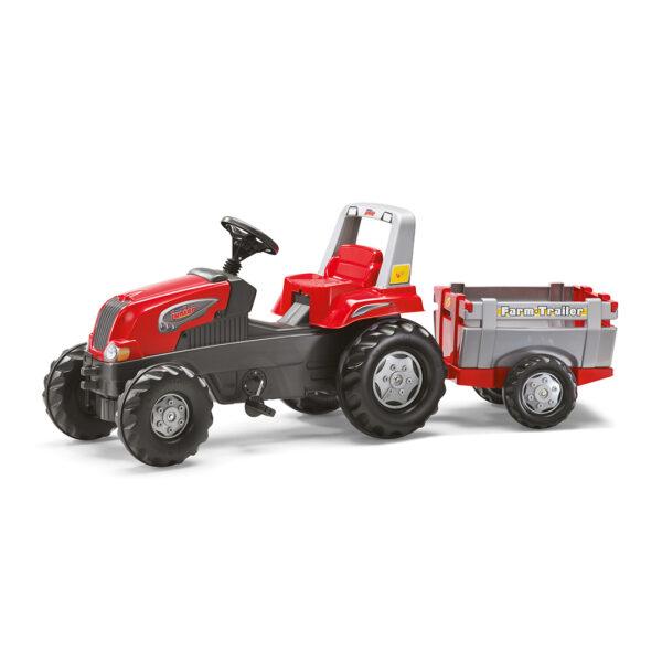 Tractor de Pedales rollyJunior RT con remolque
