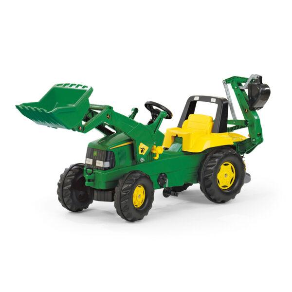 Tractor de Pedales rollyJunior John Deere con pala y excavadora