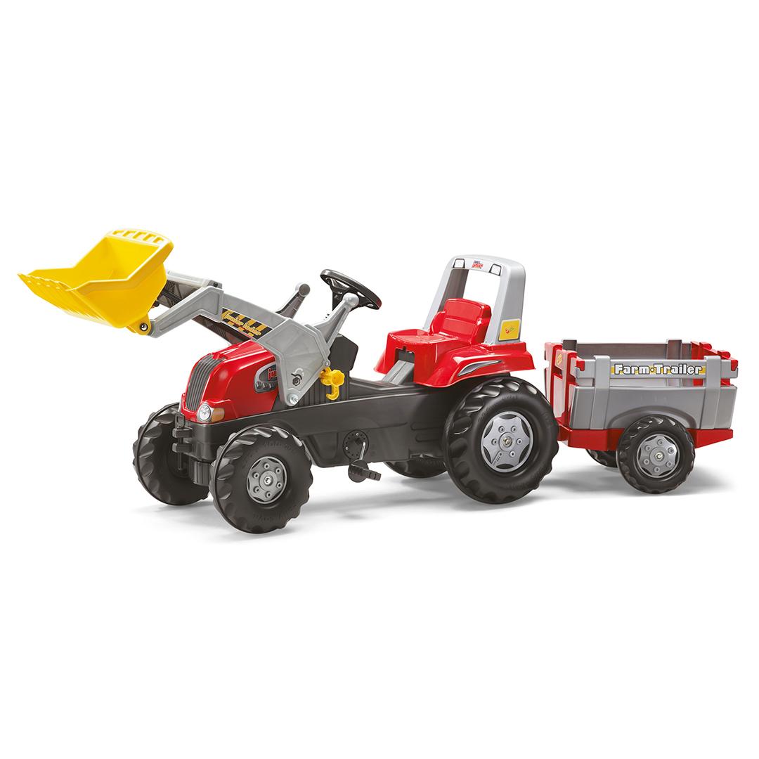 Tractor de Pedales rollyJunior RT con pala y remolque