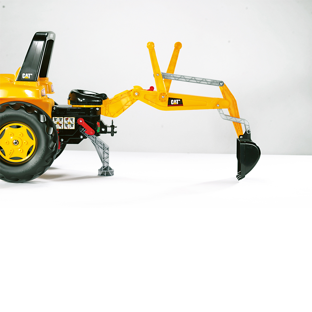 Tractor de Pedales rollyJunior CAT con pala y excavadora