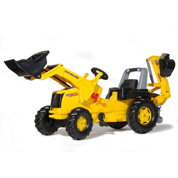 Tractor de Pedales rollyJunior New Holland con pala y excavadora