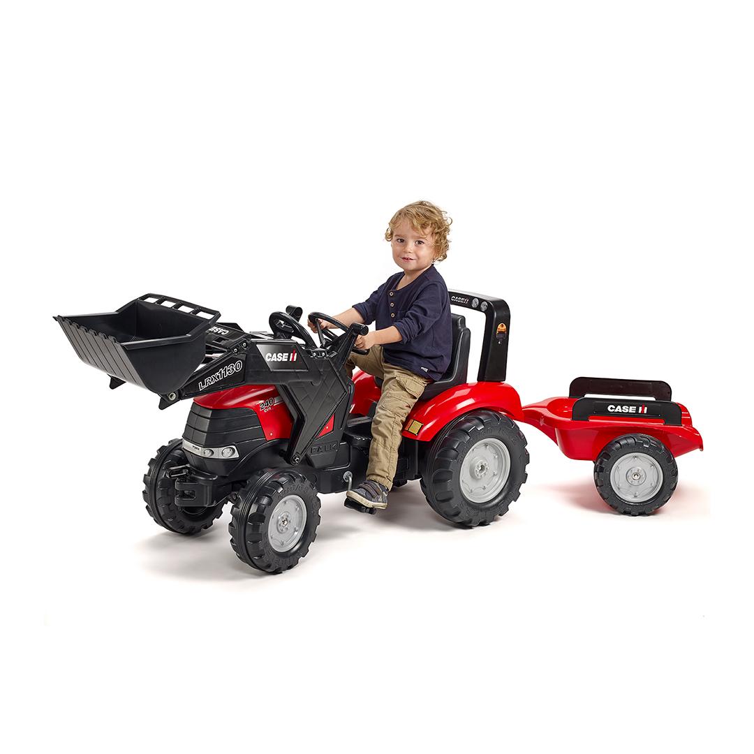 Tractor de pedales Case IH Puma 240CVX con pala y remolque