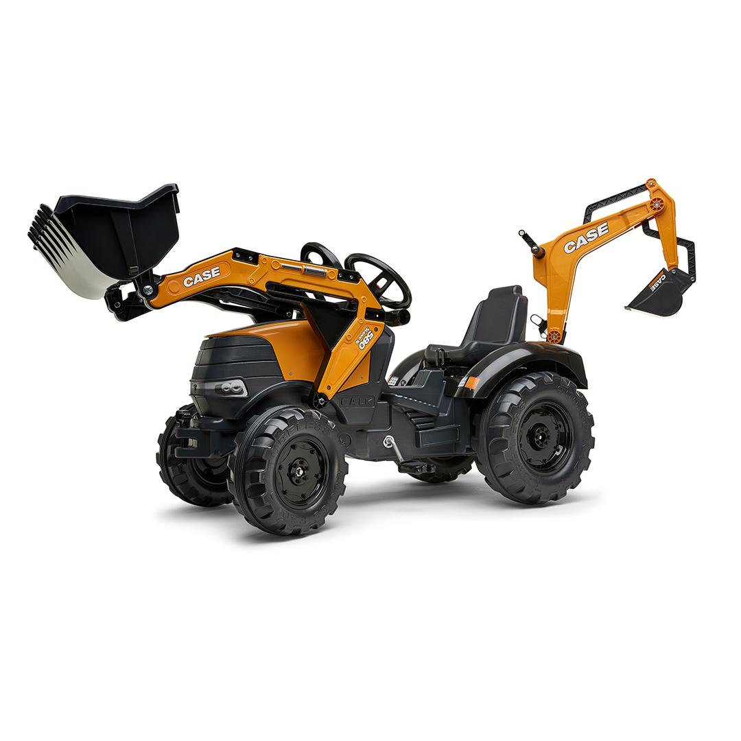 Tractor de pedales Case CE 580 Super N con pala y excavadora