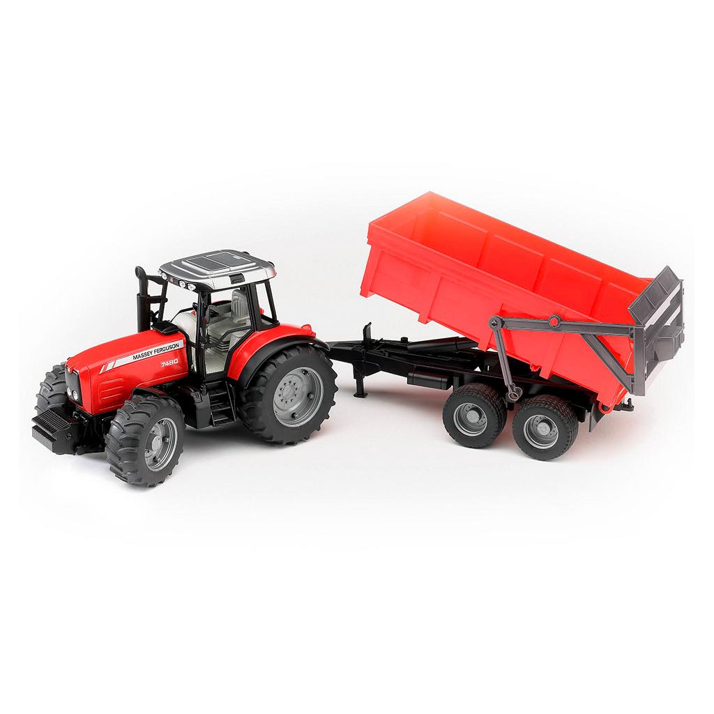 Tractor Massey Ferguson 7480 con remolque - Ref. Bruder 2045