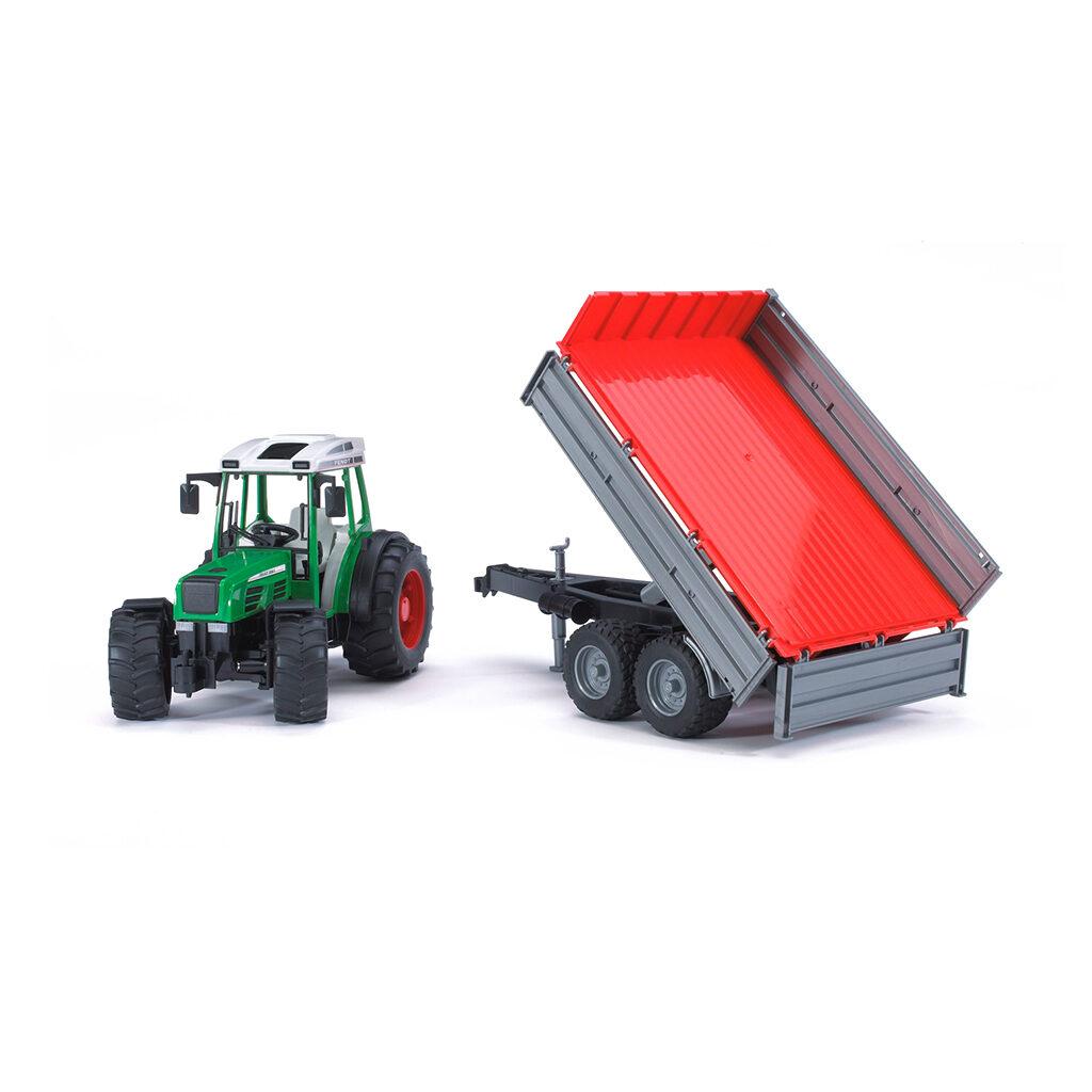 Tractor Fendt 209 S con remolque - Ref. Bruder 2104 - 1