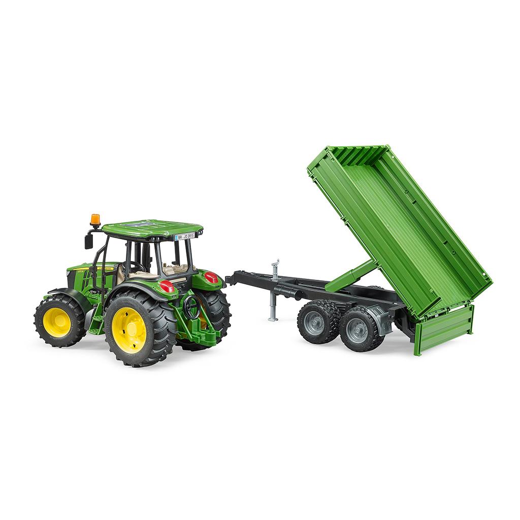 Tractor John Deere 5115M con pala y remolque - Ref. Bruder 2108 - 1