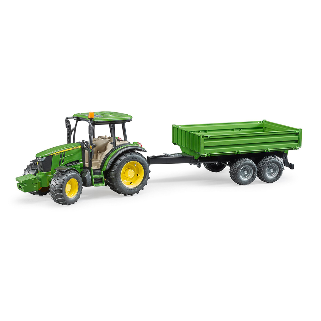 Tractor John Deere 5115M con pala y remolque - Ref. Bruder 2108