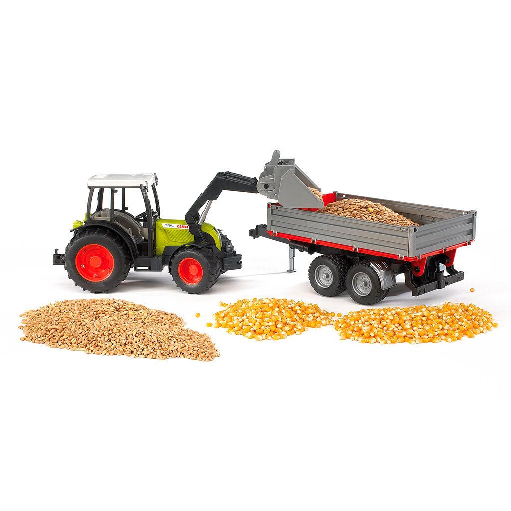 Tractor Claas Nectis 267 F con pala frontal y remolque - Ref. Bruder 2112 - 1