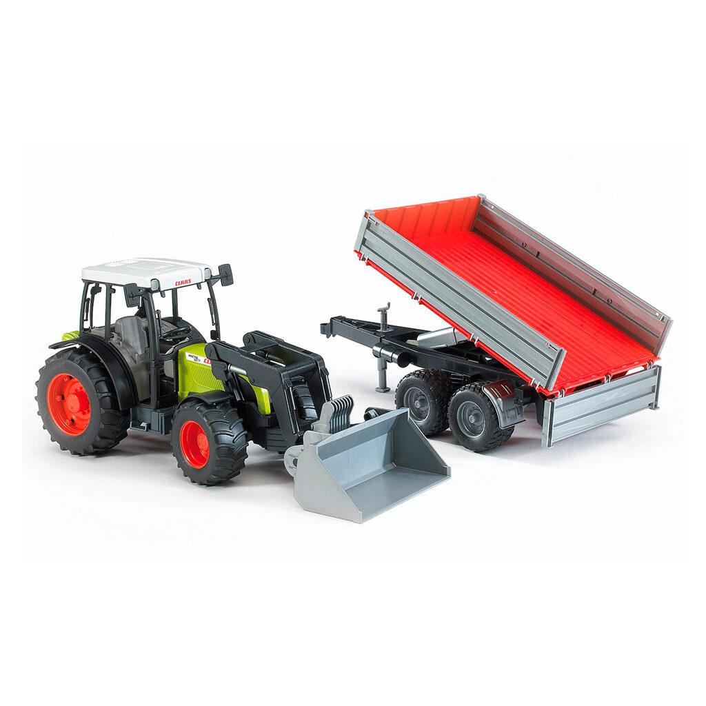 Tractor Claas Nectis 267 F con pala frontal y remolque - Ref. Bruder 2112