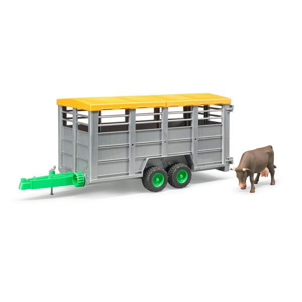 Remolque de ganado con vaca - Ref. Bruder 2227 - 1