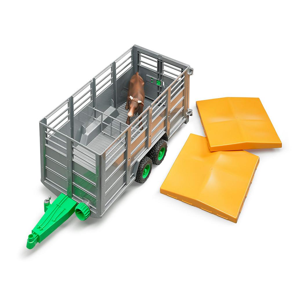 Remolque de ganado con vaca - Ref. Bruder 2227