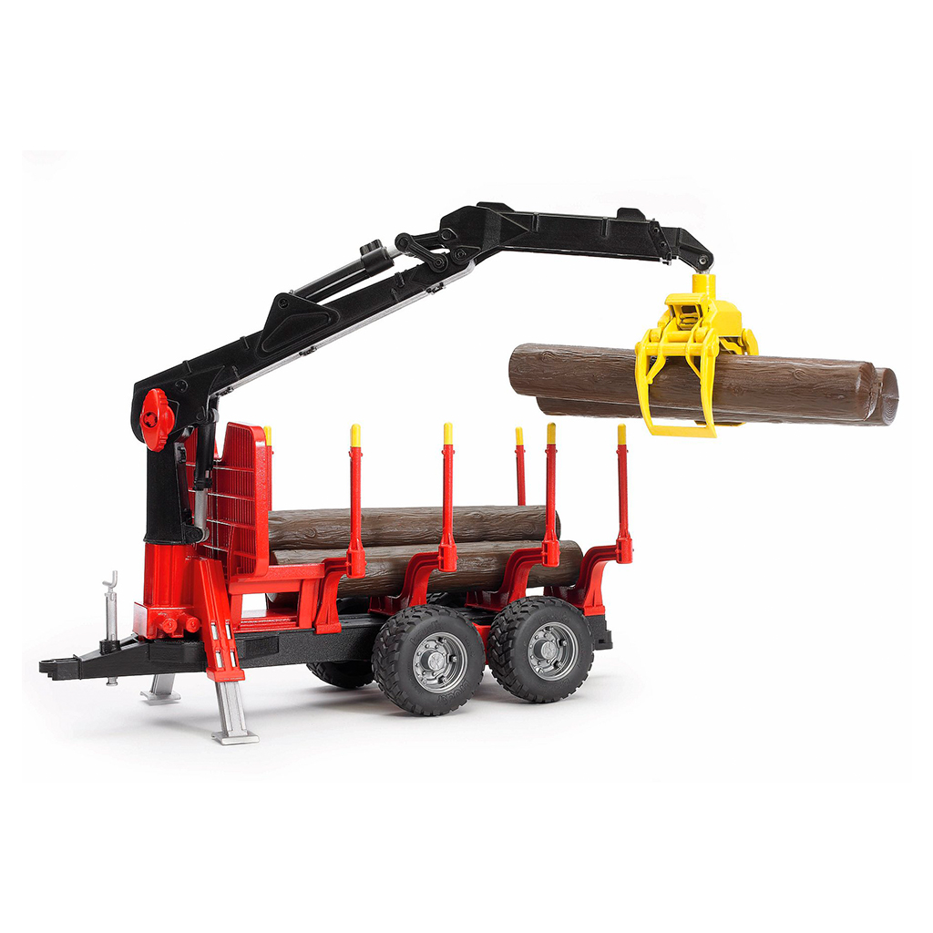 Remolque para troncos con grúa