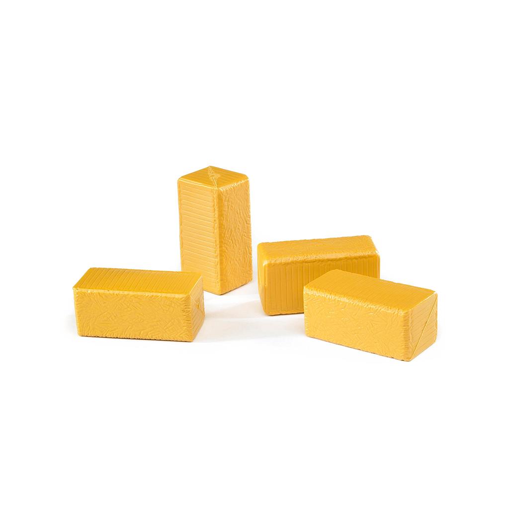 4 balas de heno rectangulares para embaladora - Ref. Bruder 2342