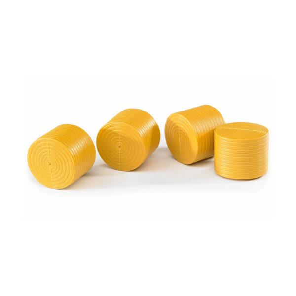 4 balas amarillas para Claas Rollant 250 - Ref. Bruder 2344