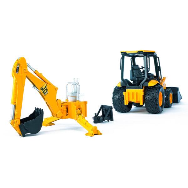 Excavadora JCB MIDI CX con pala frontal y brazo trasero - Ref. Bruder 2427