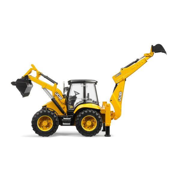 Excavadora JCB 5CX doble pala y acristalada - Ref. Bruder 2454 - 1