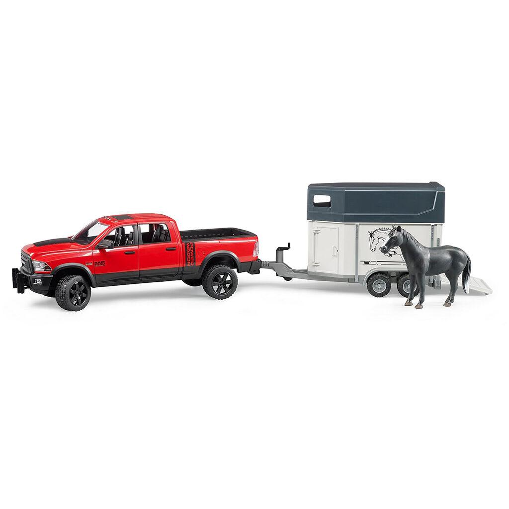 Todoterreno RAM 2500 Power Wagon con remolque equino y caballo - Ref. Bruder 2501