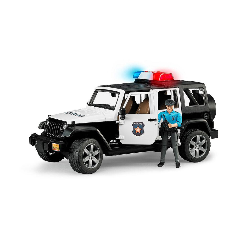 Jeep Wrangler Unlimited Policia con sirena y policía - Ref. Bruder 2526 - 1