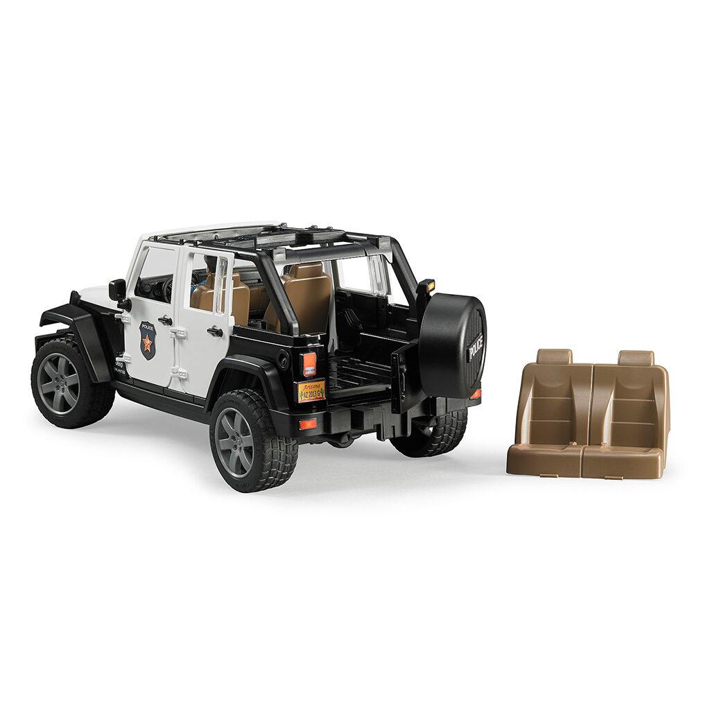 Jeep Wrangler Unlimited Policia con sirena y policía - Ref. Bruder 2526
