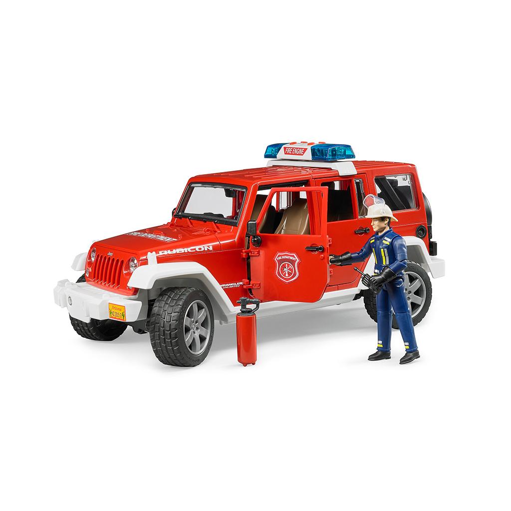 Jeep Wrangler Unlimited Rubicon bomberos con muñeco - Ref. Bruder 2528 - 1