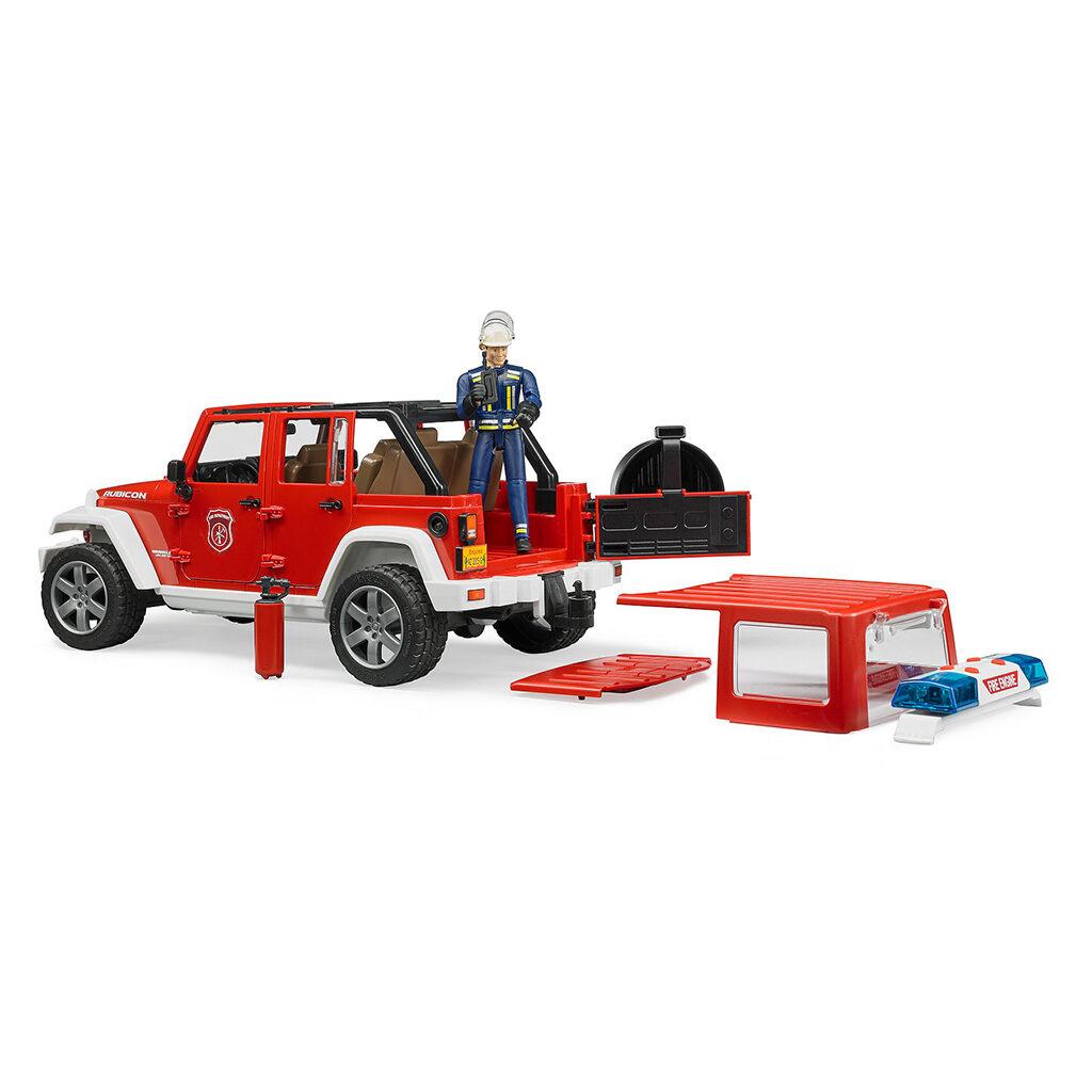 Jeep Wrangler Unlimited Rubicon bomberos con muñeco - Ref. Bruder 2528