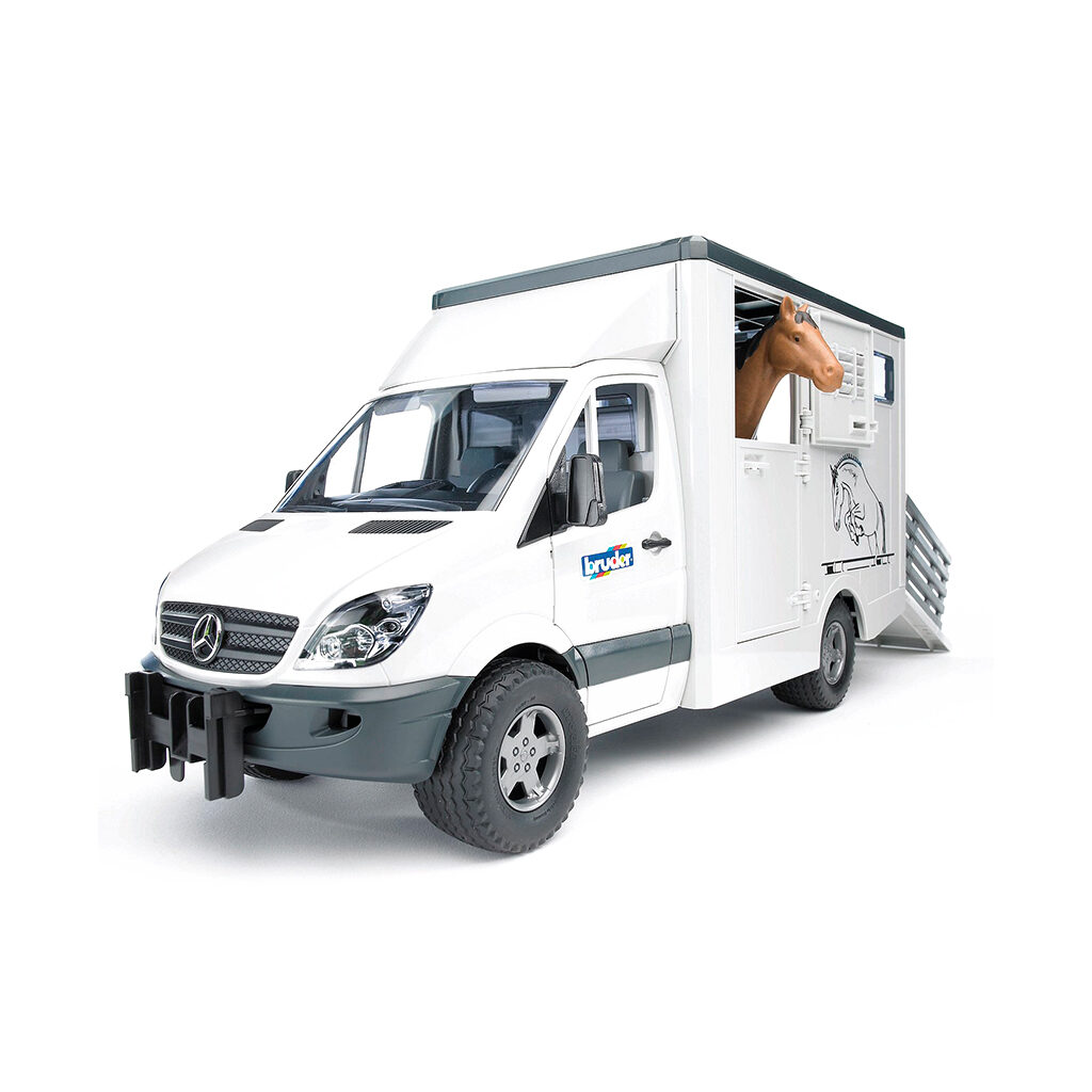 Furgoneta para Transporte Equino Mercedes Benz Sprinter con Caballo - Ref. Bruder 2533 - 1