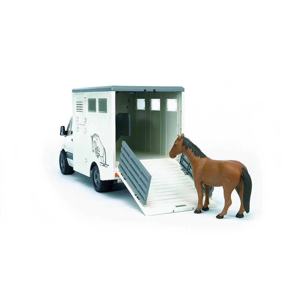 Furgoneta para Transporte Equino Mercedes Benz Sprinter con Caballo - Ref. Bruder 2533