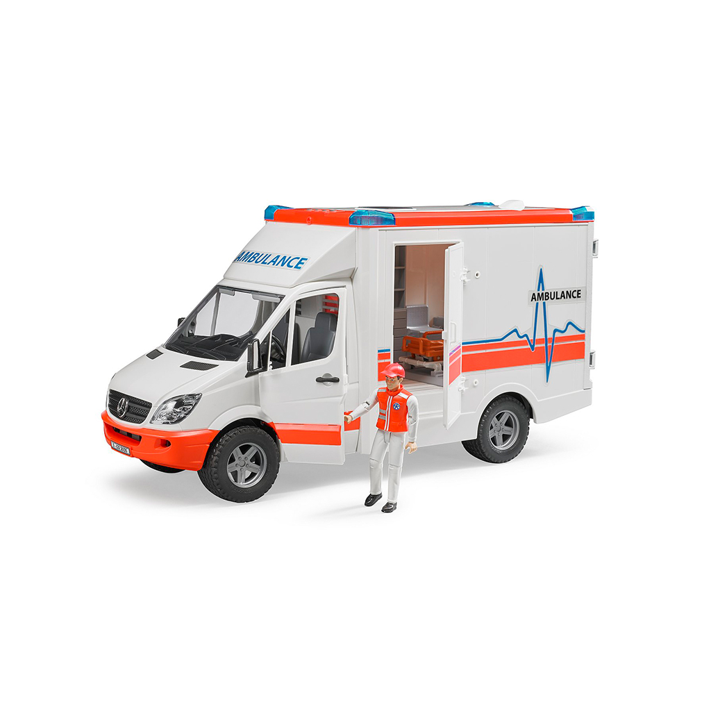 Ambulancia Mercedes Benz con Conductor - Ref. Bruder 2536 - 1