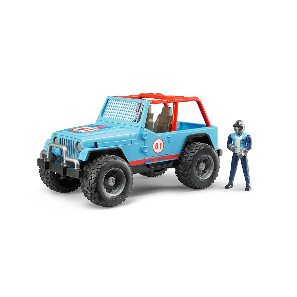 Jeep Cross Country Racer azul con piloto - Ref. Bruder 2541