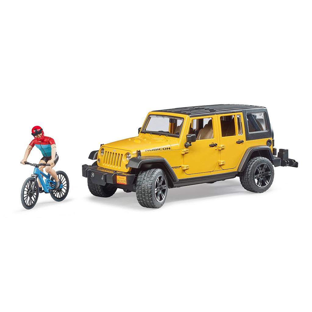Jeep Wrangler U.R. con ciclista  - Ref. Bruder 2543 - 1
