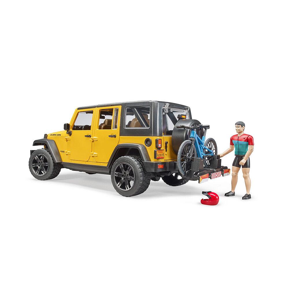 Jeep Wrangler U.R. con ciclista  - Ref. Bruder 2543