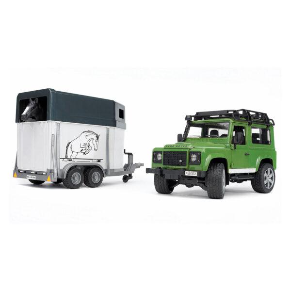 Todoterreno Land Rover Defender con Remolque De Caballos – Ref. Bruder 2592